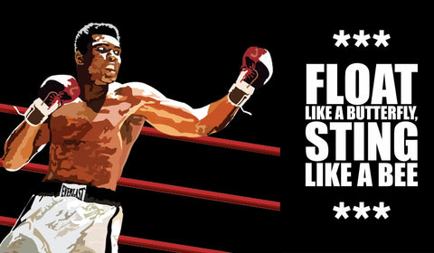 Muhammad Ali - Float Like A Butterfly Sting Like A Bee - Digital Art - Life Size Posters