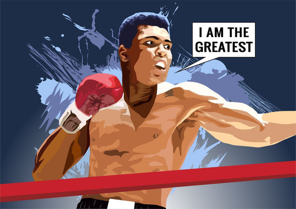 Muhammad Ali - I Am The Greatest - Digital Art - Life Size Posters