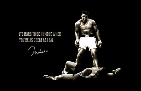 Muhammad Ali - Its Hard To Be Humble - Canvas Prints