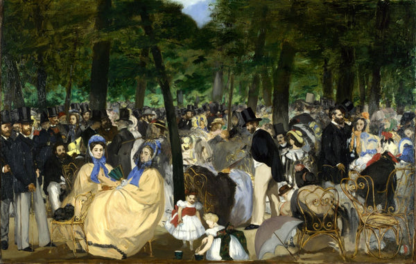 Music In The Tuileries - Canvas Prints