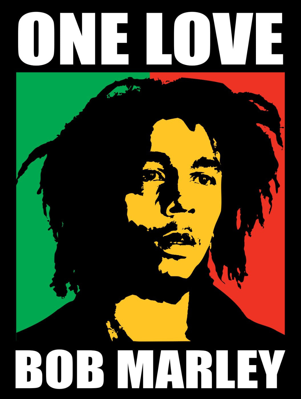 Musicians - Bob Marley - One Love - Graphic Art - Canvas Prints by ...