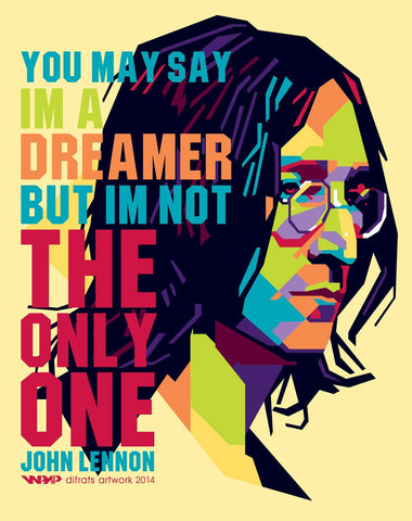 Music and Musicians Collection - John Lennon - Imagine - Graphic Art - Posters