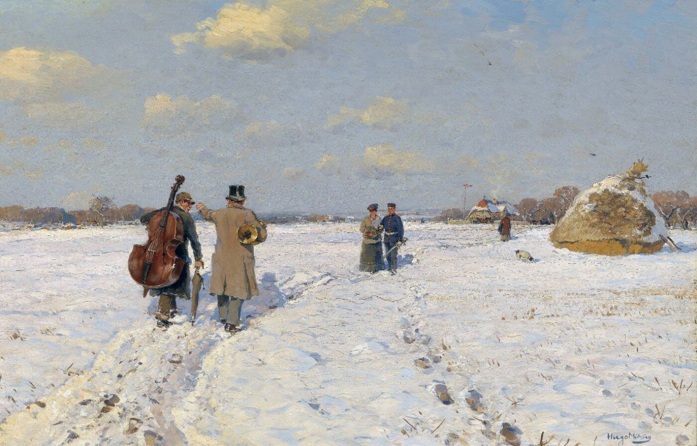 Musicians Returning Home - Hugo Mühlig  - Impressionist Painting - Posters