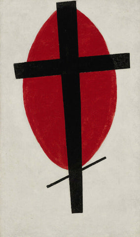 Kazimir Malevich - Mystic Suprematism (Black Cross Over Red Oval), 1922
