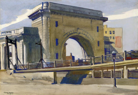 The Manhattan Bridge - Edward Hopper by Edward Hopper