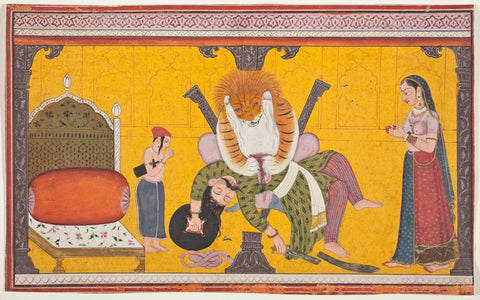 Indian Miniature Art - Narasimha