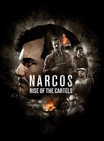Narcos - Escobar - Rise Of The Cartels - Netflix TV Show Poster Art by Tallenge Store