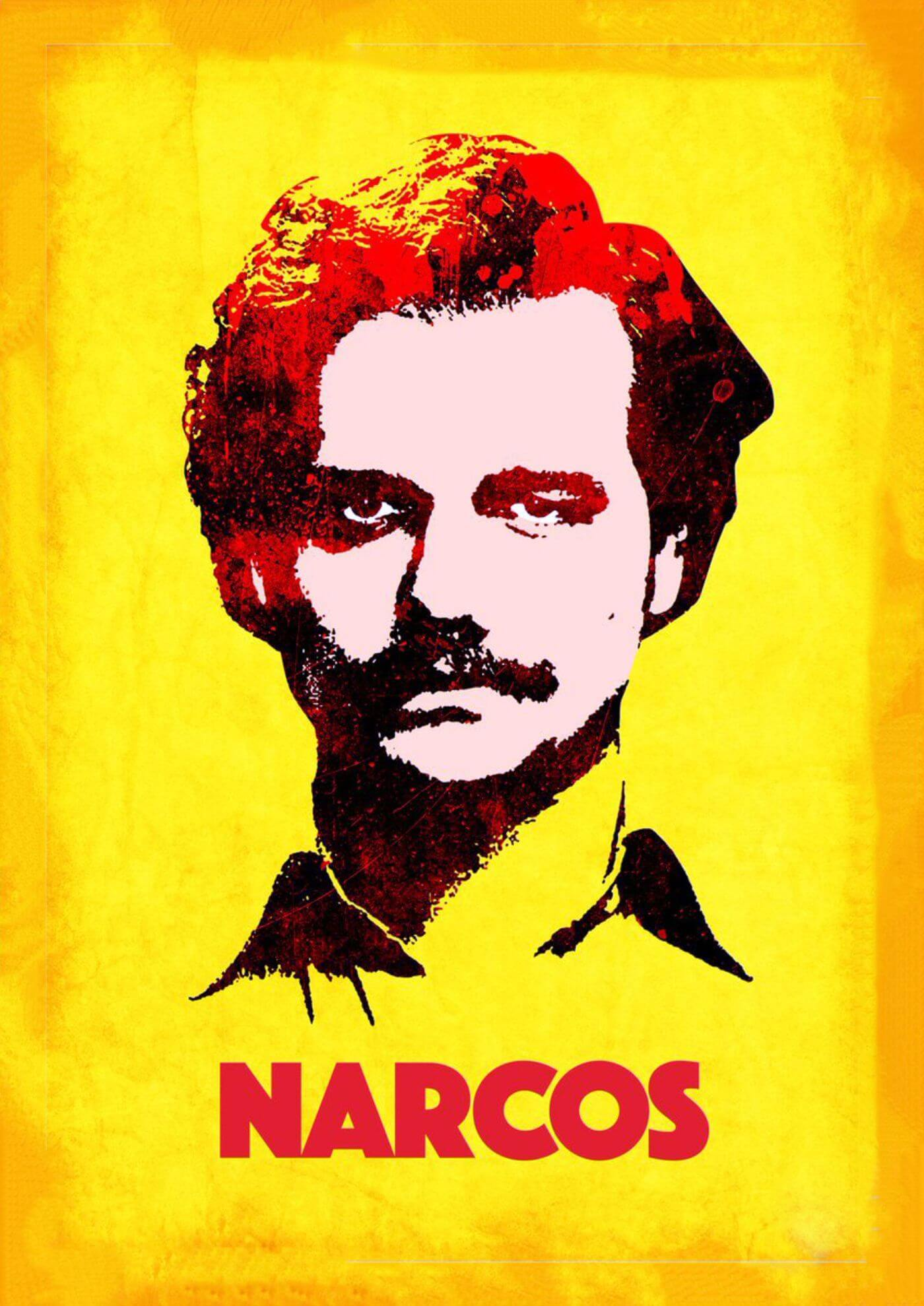 Narcos - Pablo Escobar - Netflix TV Show Pop Art Poster - Framed Prints