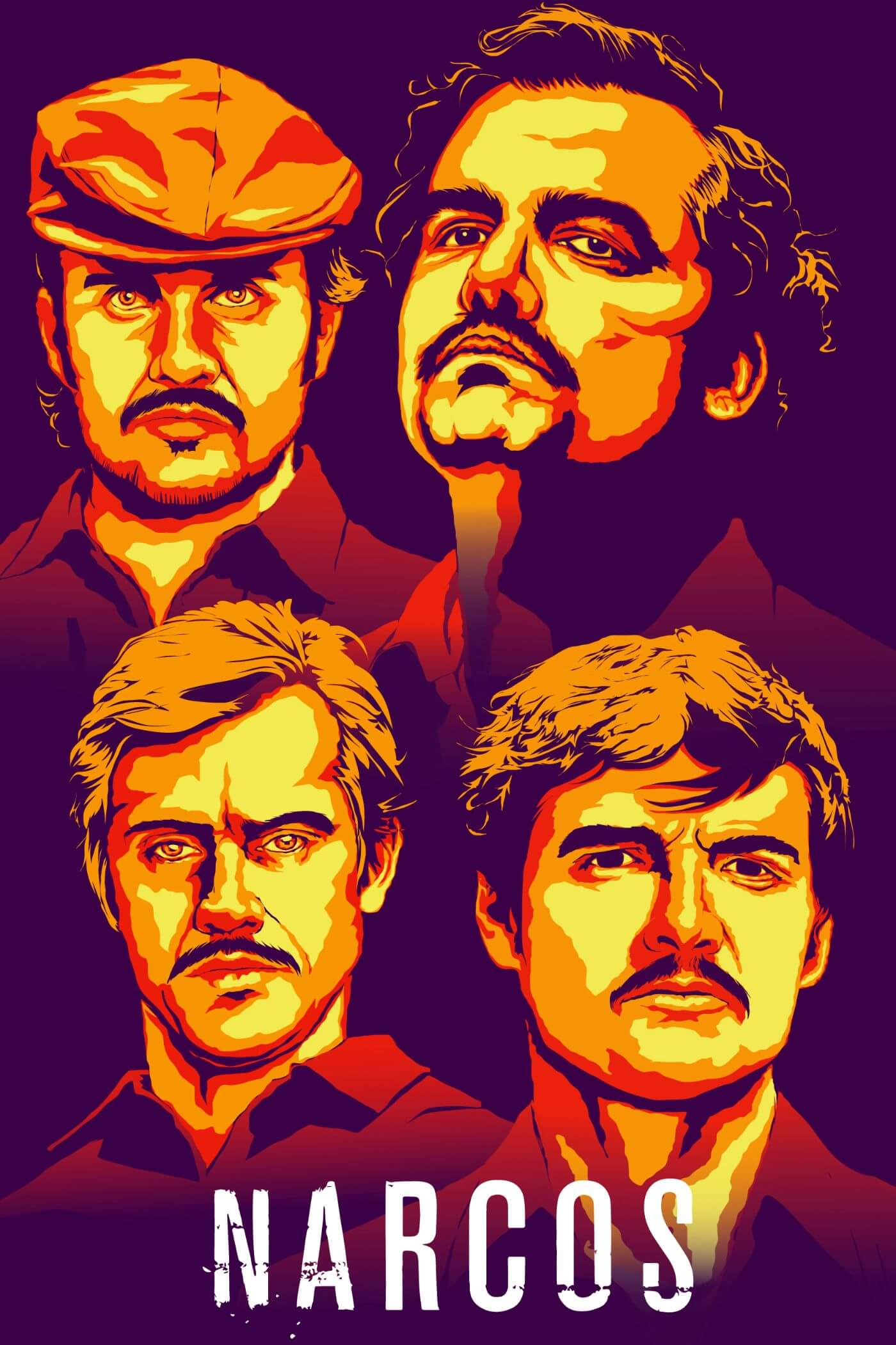 Narcos - Pablo Escobar - Netflix TV Show Poster - Fan Art