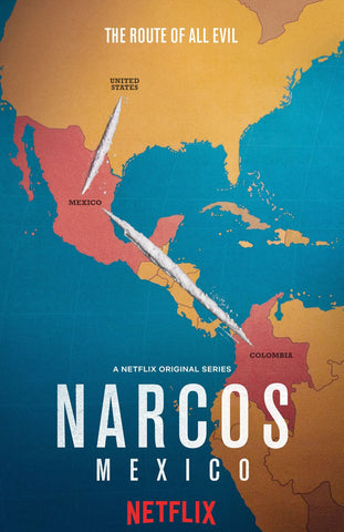 Narcos Mexico - Netflix TV Show Poster Fan Art by Tallenge Store