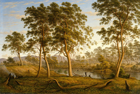 Natives on the Ouse River, Van Diemen's Land