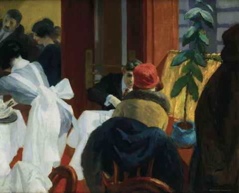 Edward Hopper - New York Restaurant by Edward Hopper