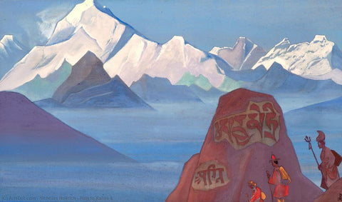 Path To Kailas -  Nicholas Roerich Painting –  Landscape Art by Nicholas Roerich