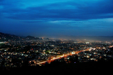 Nightscape Pokhara City Nepal