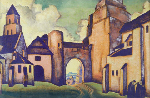 Secrets Of The Walls-  Nicholas Roerich Painting –  Landscape Art by Nicholas Roerich