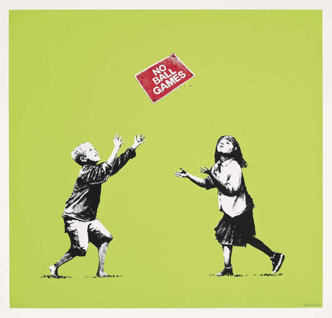 No Ball Games - Banksy