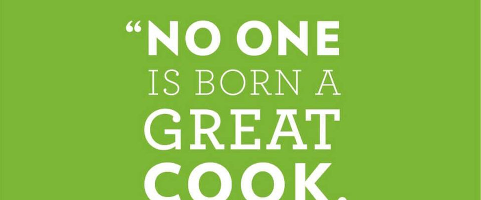 No One Is Born A Great Cook by Tallenge Store | Buy Posters, Frames, Canvas  & Digital Art Prints