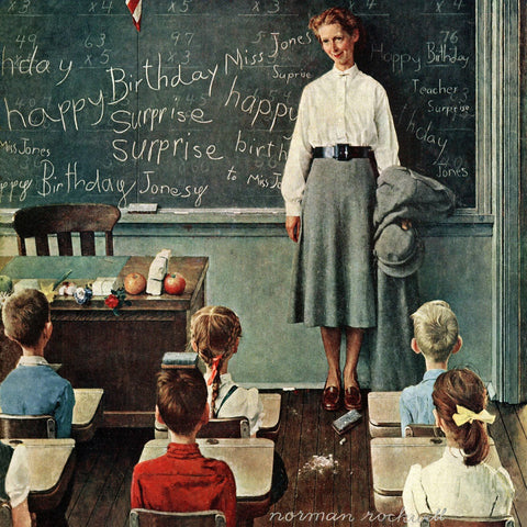 Happy Birthday Miss Jones - Posters by Norman Rockwell