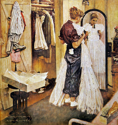Prom Dress - Posters by Norman Rockwell