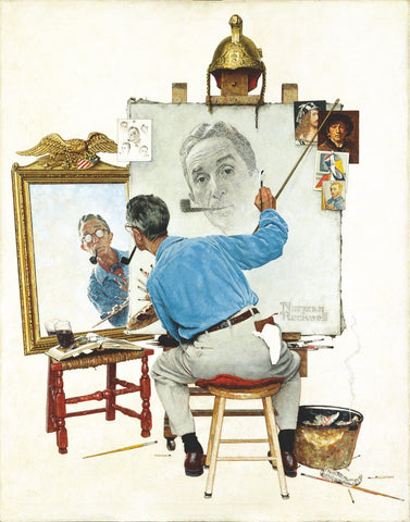 Triple Self Portrait - Posters by Norman Rockwell
