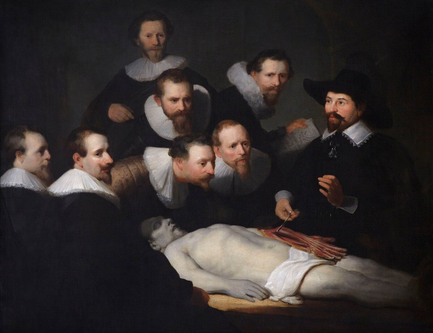 The Anatomy Lesson of Dr. Nicolaes Tulp - Canvas Prints by Rembrandt ...