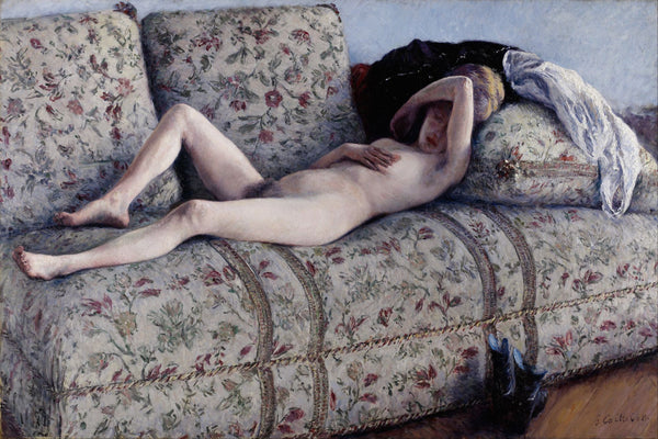 Nude on a Couch - Canvas Prints