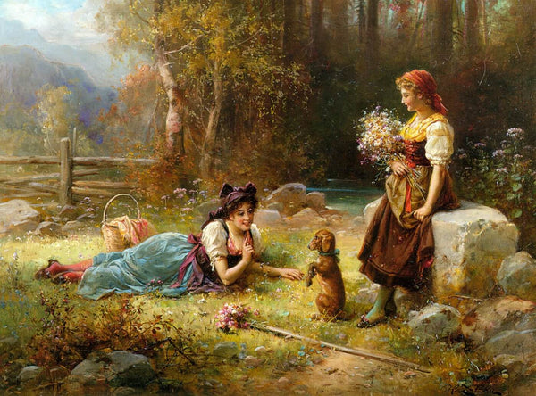 Artwork of Obedience by Hans Zatzka by Hans Zatzka