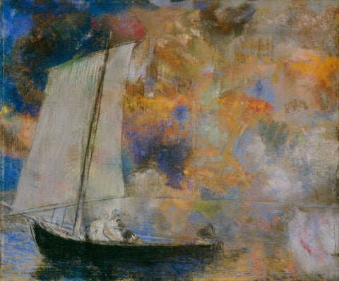 Flower Clouds by Odilon Redon