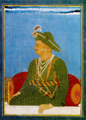 Portrait Of Tipu Sultan, The Tiger Of Mysore