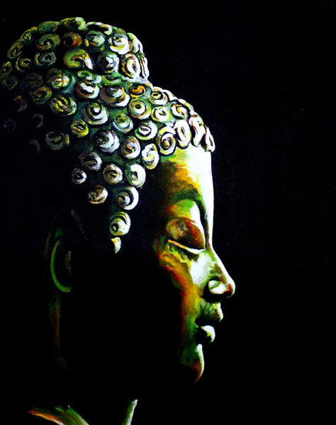 Oil Painting - Buddha The Enlightened One - Framed Prints