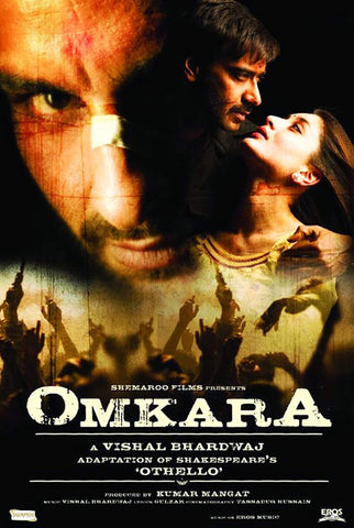 Omkara - Saif Ali Khan - Bollywood Cult Classic Hindi Movie Poster by Tallenge Store