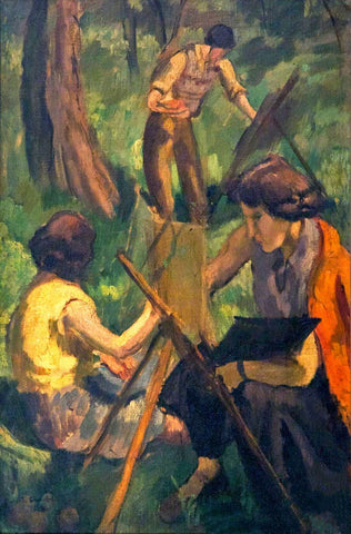 Open Air Painters - Amrita Sher-Gil - Famous Indian Art Painting by Amrita Sher-Gil
