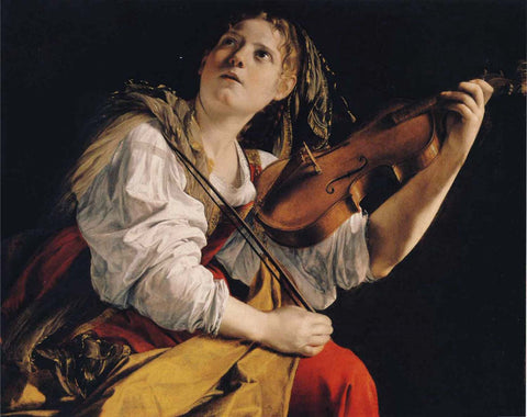 Young Woman Playing A Violin - Canvas Prints