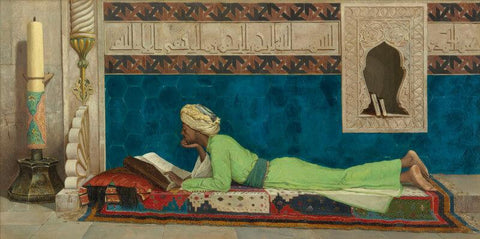 A Young Emir Studying by Osman Hamdi Bey