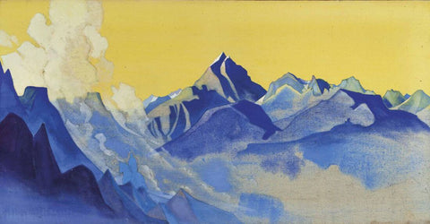 Over Ergor Comes A Rider– Nicholas Roerich Painting –  Landscape Art by Nicholas Roerich