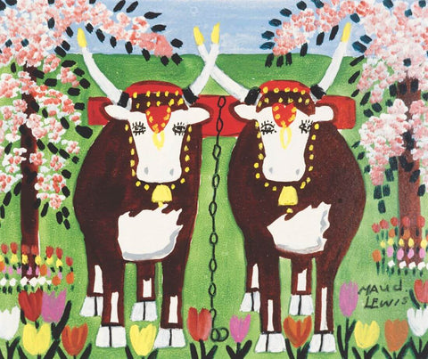 Oxen - Maud Lewis