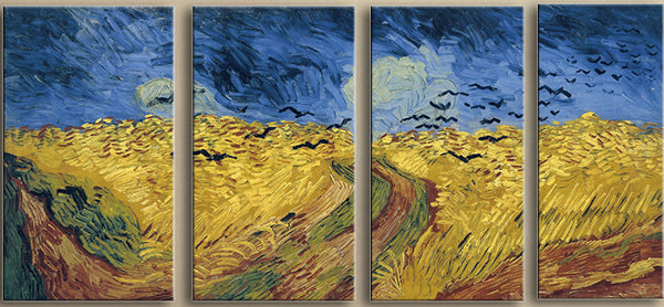 Wheatfield with Crows - Art Panels (10 x 17 inches)x 4