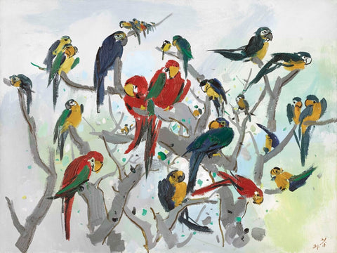 Heaven of Parrots - Posters by Wu Guanzhong