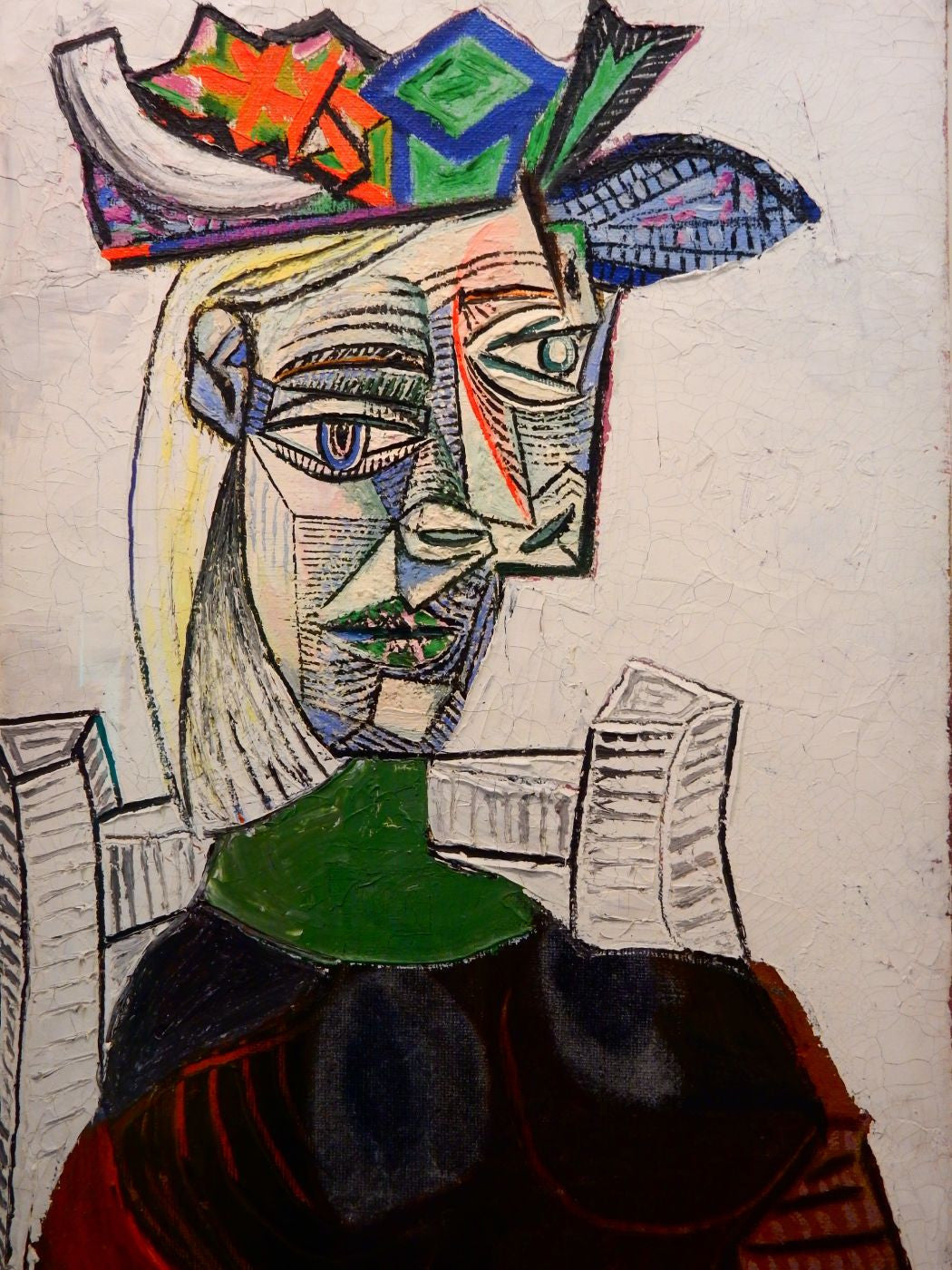 Pablo Picasso - Femme Assise Au Chapeau -Seated Woman in a Hat - Art ...
