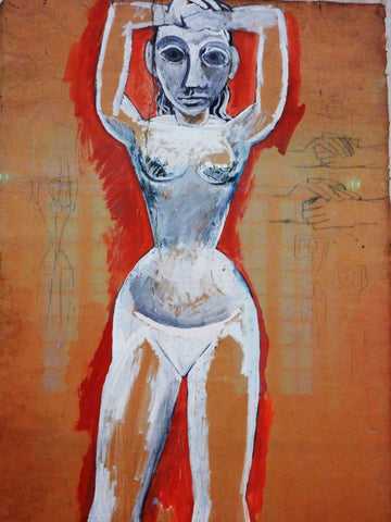 Les Demoiselles dAvignon - Frontal Nudity with Raised Arms