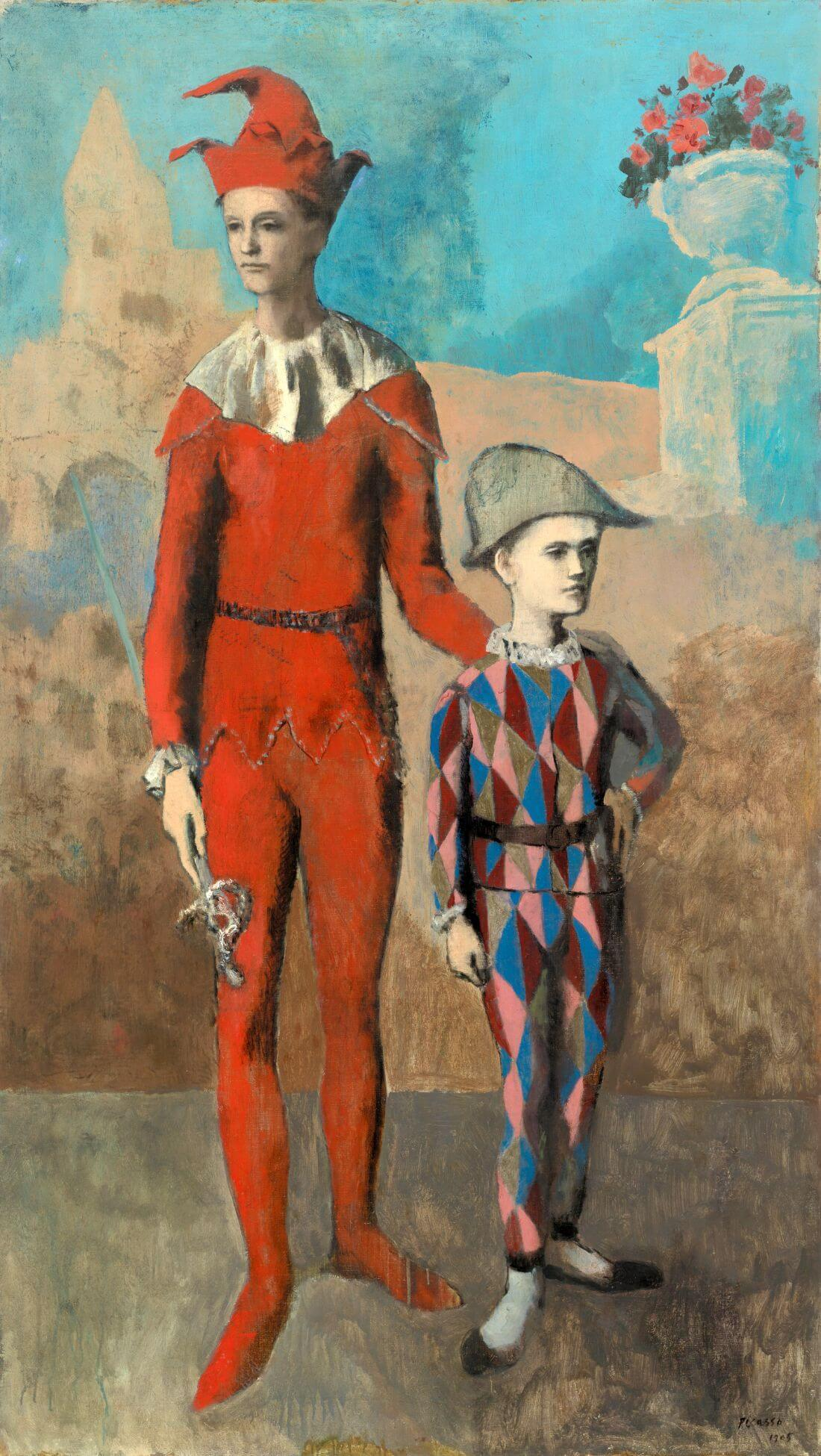 Acrobat And Young Harlequin 1905 (Acróbata y Arlequín Joven) - Pablo  Piccaso - Large Art Prints by Pablo Picasso   Buy Posters, Frames, Canvas &  Digital Art Prints   Small, Compact, Medium and Large Variants