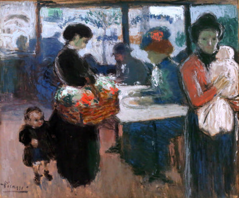 Brasserie En Montmartre, 1901 by Pablo Picasso | Buy Posters, Frames, Canvas  & Digital Art Prints