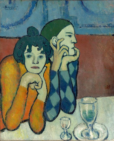 Pablo Picasso - Les Deux Saltimbanques - Harlequin And His Companion