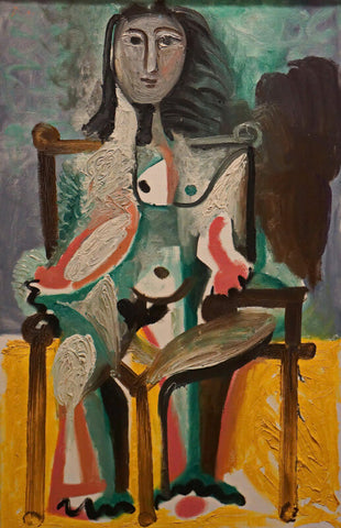 Pablo Picasso - Femme Dans Une Chaise - Nude Seated On The Chair, 1963