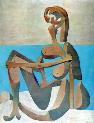 Pablo Picasso - Baigneuse Assise  - Seated Bather by Pablo Picasso | Buy Posters, Frames, Canvas  & Digital Art Prints