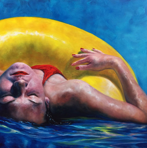 Painting - Cooling Off In Azure Waters