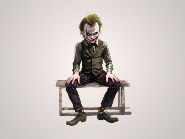 Painting - Heath Ledger As The Joker - Batman The Dark Knight - Hollywood Collection - Framed Prints