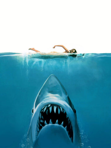 Painting - Jaws - Hollywood Collection - Life Size Posters