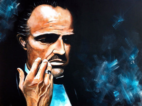 Painting - Marlon Brando Quote from Godfather - Hollywood Collection
