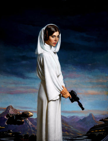 Painting - Princess Leia in Star Wars - Hollywood Collection - Art Prints